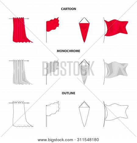 Vector Illustration Of Texture And Presentation Logo. Set Of Texture And Media Stock Symbol For Web.