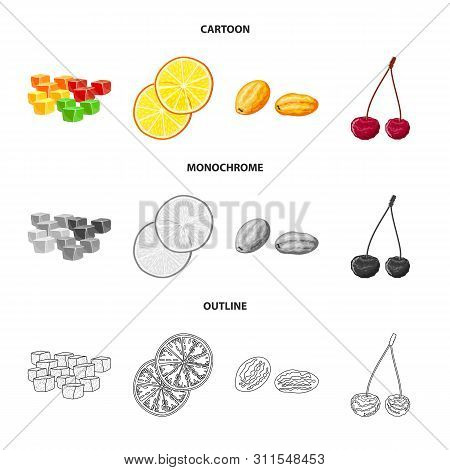 Isolated Object Of Food And Raw Icon. Set Of Food And Nature Stock Symbol For Web.