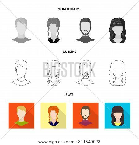 Vector Illustration Of Professional And Photo Icon. Set Of Professional And Profile Stock Vector Ill