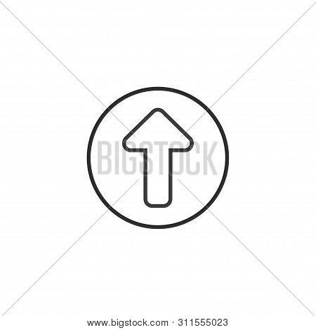 Up Arrow Icon. Vector Illustration, Flat Design.