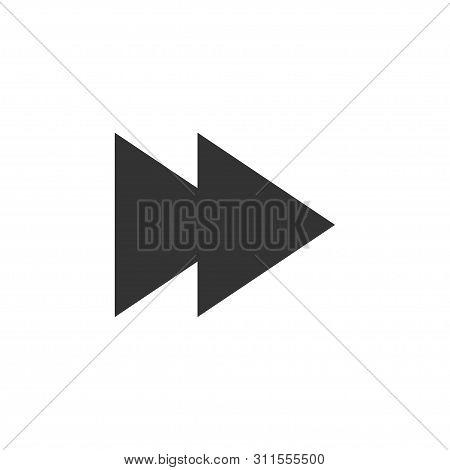 Arrow, Forward Icon. Vector Illustration, Flat Design.