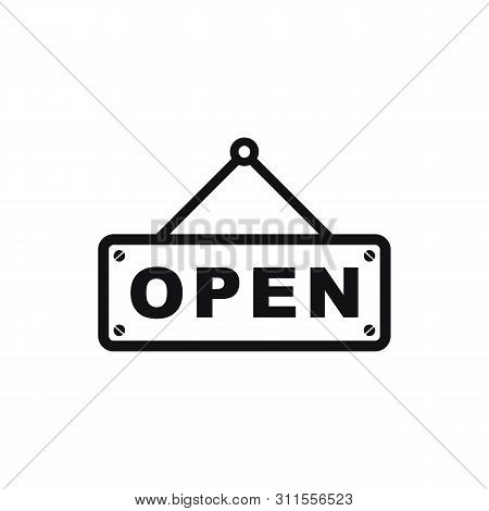 Open Icon Vector Isolated On White Background From Mall Collection. Open Icon Simple Sign. Open Icon