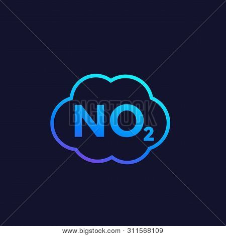 No2 Icon, Nitrogen Dioxide Vector, Eps 10 File, Easy To Edit