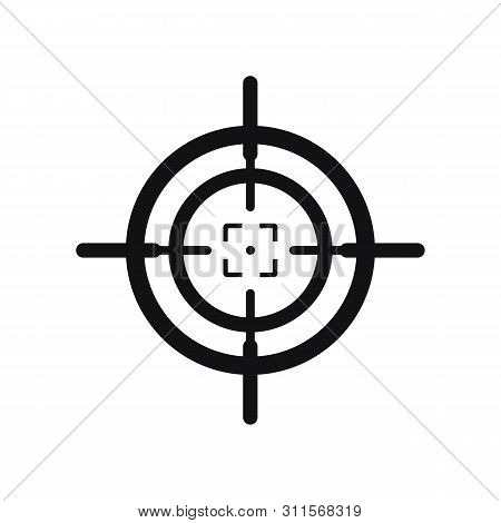 Crosshair Icon Vector Isolated On White Background. Outline Crosshair Icon Simple Sign. Crosshair Ic