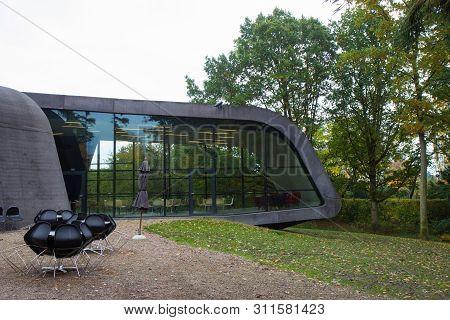 Ordrup, Denmark - September 2016: Zaha Hadids Building Of Ordrupgaard Museum