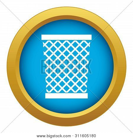 Wastepaper Basket Icon Blue Isolated On White Background For Any Design