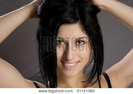 Portrait of beautiful sexy brunette