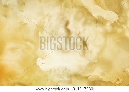 Onyx Wall Background. Texture Of Honey Color Onyx Material