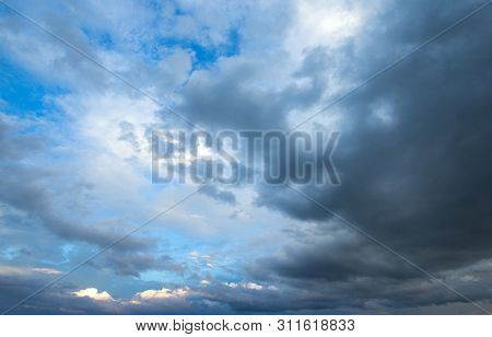 blue sky with clouds . nature background