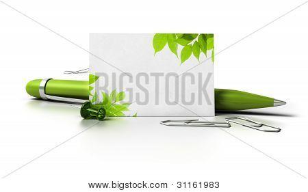 cartão de visita de eco verde