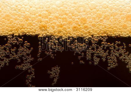 Dark Beer With Foam
