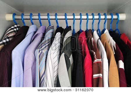 Shirts That Are Hanging
