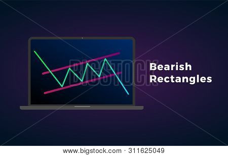 Bearish Rectangle - Continuation Price Chart Pattern Figure Technical Analysis. Strong Uptrend Betwe