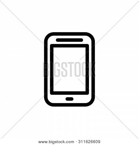 Flat Line Phone Icon Symbol Sign, Logo Template, Vector, Eps 10