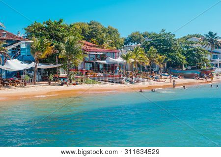 Buzios, Brazil - February 24, 2018: Streets Of Buzios Are Filled With Shops And Restaurants Are Popu