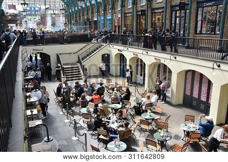 London: May 13, 2019 - Covent Garden Market Located In The West End Of London, Covent Garden Is Reno