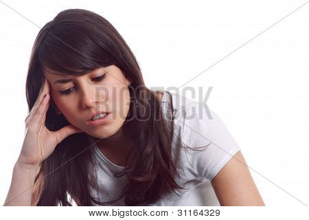 Young Girl With Headache
