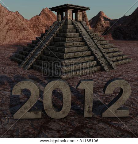 Maya 2012 de la pirámide