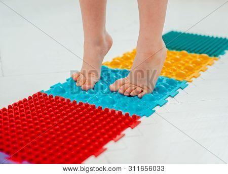 Toddler Baby Foot Massage Mat. Exercises For Legs Orthopedic Massage Carpet. Prevention Flat Feet An
