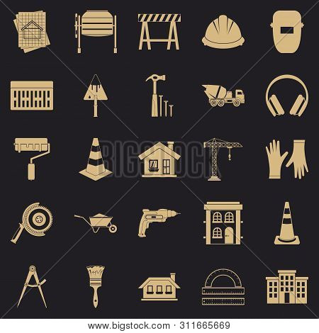 Undertaking Icons Set. Simple Set Of 25 Undertaking Icons For Web For Any Design