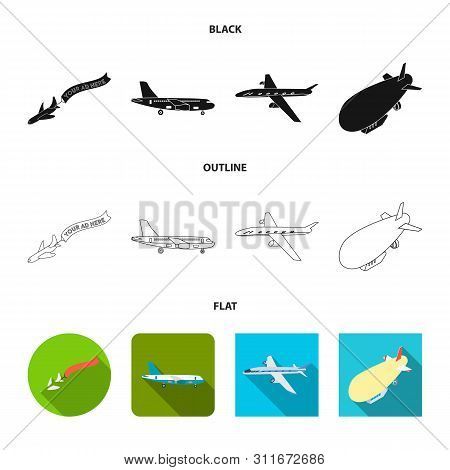 Vector Design Of Transport And Object Icon. Collection Of Transport And Gliding Vector Icon For Stoc