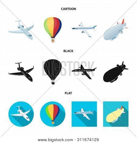 Isolated Object Of Transport And Object Symbol. Collection Of Transport And Gliding Vector Icon For