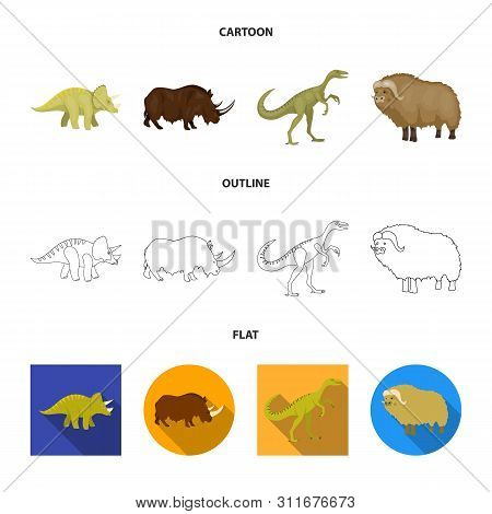 Isolated Object Of Animal And Character Logo. Collection Of Animal And Ancient Stock Vector Illustra