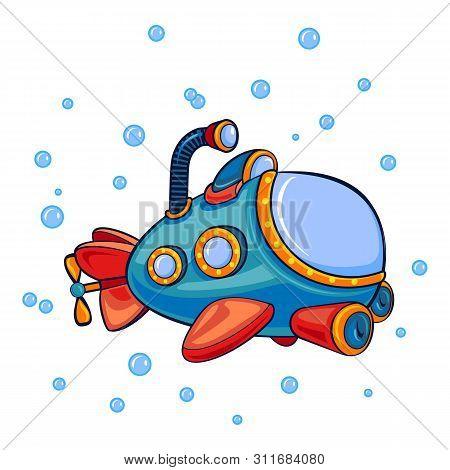 Submarine Periscope Icon. Cartoon Of Submarine Periscope Icon For Web Design Isolated On White Backg
