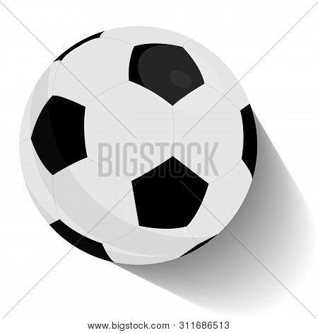 Soccer Ball, Football Tournament. Football Or Soccer Ball Flying With Motion Trails Vector Illustrat
