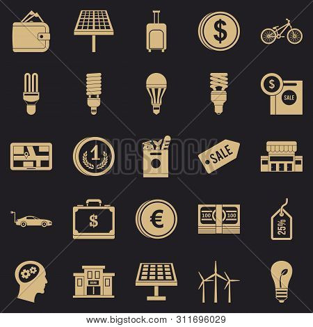 Monetary Relations Icons Set. Simple Set Of 25 Monetary Relations Icons For Web For Any Design