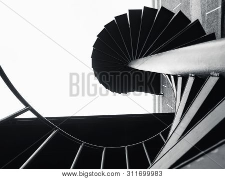 Stair Step Black Staircase Modern Building Architecture Abstract