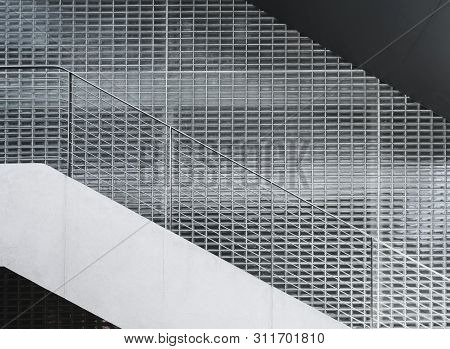 Architecture Details Wall Glass Block Stairs Pattern Texture Background