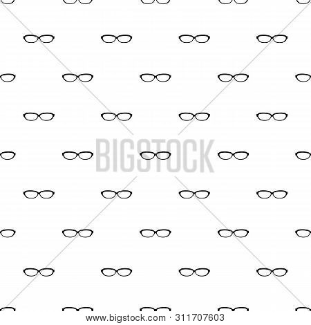 Astigmatic Spectacles Pattern Seamless Repeat Geometric For Any Web Design