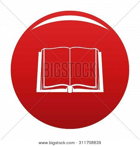 Book Deployed Icon. Simple Illustration Of Book Deployed Icon For Any Design Red