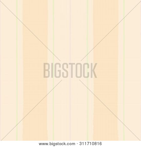 Painterly Modern Vintage Shirting Stripe In Pastel Peach, Green And Purple. Seamless Vector Pattern