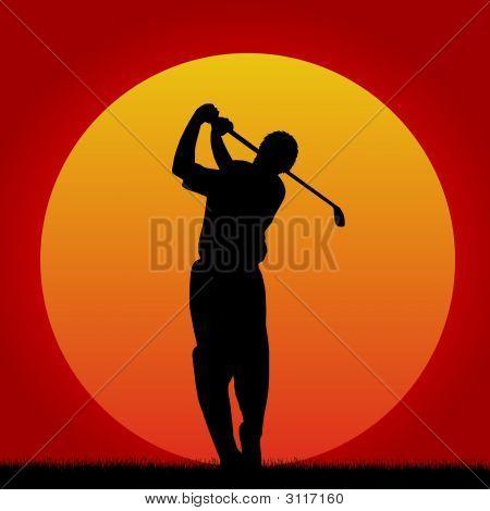 Sunset Golfer