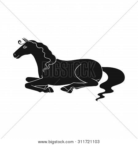 Vector Design Of Steed And Brown Sign. Set Of Steed And Brown Stock Symbol For Web.