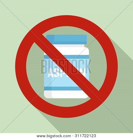 No Pill Jar Icon. Flat Illustration Of No Pill Jar Vector Icon For Web Design