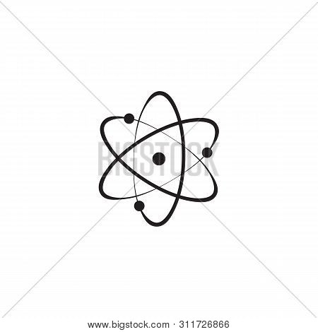 Icon Structure Of The Nucleus Of The Atom. Atom, Protons, Neutrons And Electrons. Vector Illustratio
