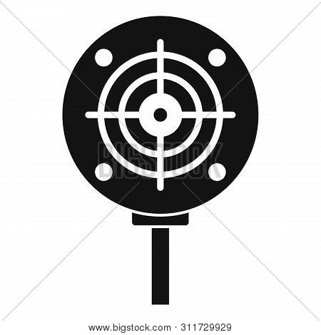 Shooting Target Icon. Simple Illustration Of Shooting Target Vector Icon For Web Design Isolated On
