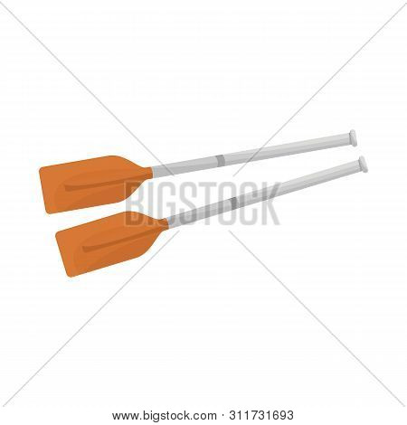 Vector Design Of Oars And Paddle Icon. Collection Of Oars And Sport Stock Vector Illustration.