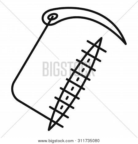 Closed Suture Icon. Outline Closed Suture Vector Icon For Web Design Isolated On White Background
