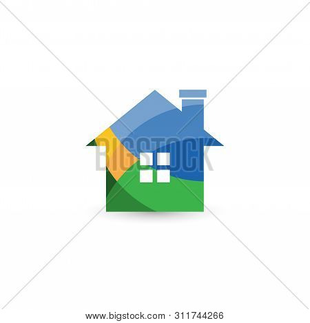 Vector Colorful Home Icon, House Icon, House Logo Vector. House Icon Simple. House Icon App. House I