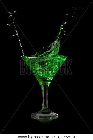Stock Photo: green martini cocktail
