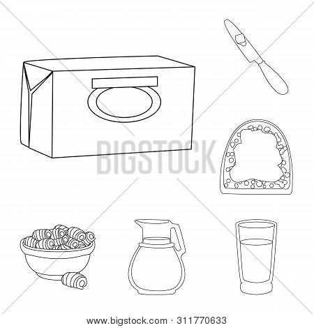 Bitmap Illustration Of Margarine And Cholesterol Sign. Collection Of Margarine And Ingredient Stock