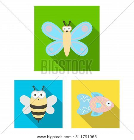 An Unrealistic Animal Flat Icons In Set Collection For Design. Toy Animals Bitmap Symbol Stock Web I