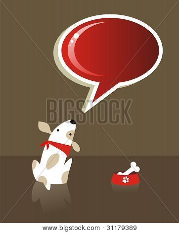 Speech Bubble And Dog