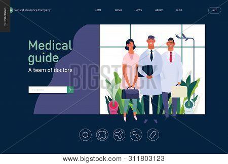 Medical Insurance -medical Guide -modern Flat Vector Concept Digital Illustration - Medical Speciali