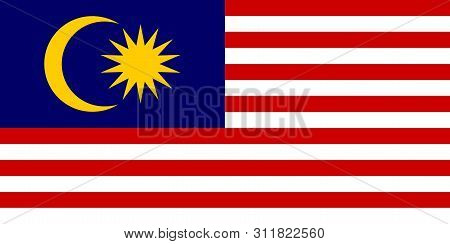 Flag Of Malaysia Vector Illustration Worlds Flags Collection