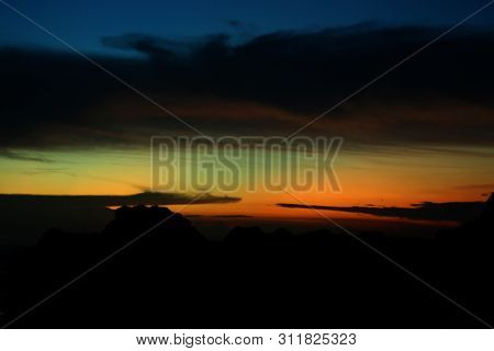 Blurry Colorful Sky Background. Beautiful Sky Colors  View Background. Abstract Sky At Magic Hours B